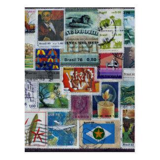 Poststamp-themed Postcard Postkarte