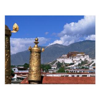 Potala-Palast in Lhasa, Tibet genommen von Postkarte