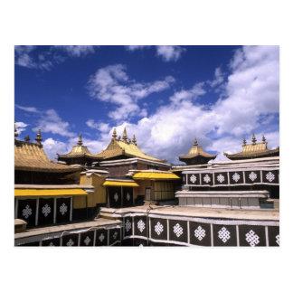 Potala-Palast nach innen mit Steeples am Zuhause Postkarte