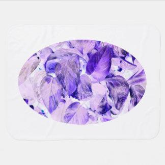 Pothos umgekehrtes blaues Lila der Pflanze Kinderwagendecke