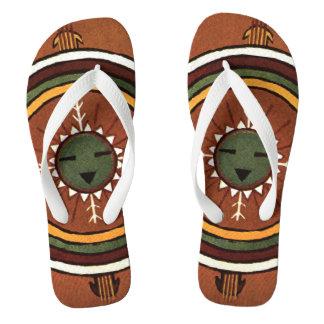Powalawu amerikanischer Ureinwohner Sandpainting Flip Flops