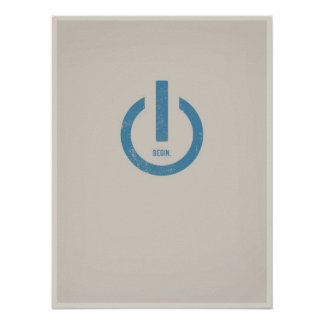 Power auf minimalistic Plakat