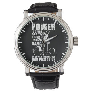 POWER - Bodybuilding motivierend Armbanduhr