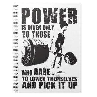 POWER - Bodybuilding motivierend Spiral Notizblock