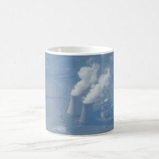 Power-Pflanzen-Luftaufnahme-weißer Kaffee-Tasse Kaffeetasse