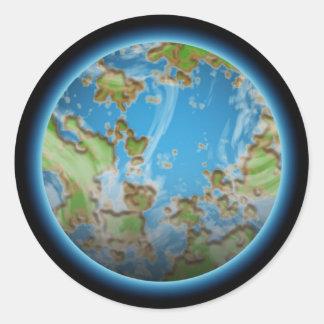 Power-Planet Runder Aufkleber