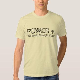 POWER =, wirkliche Weltstärken-Trainer Tshirts
