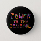 Power zu dem friedlichen (Blumen-Power) Runder Button 5,7 Cm