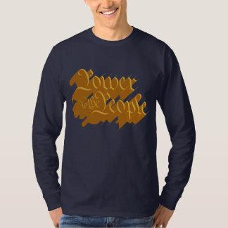 Power zu den Leuten (Gold) T-Shirt