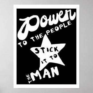 Power zu den Leuten Poster