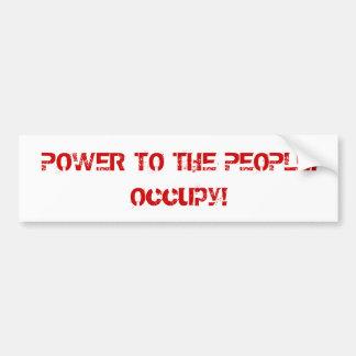 Power zum Leute-Retro Art-Protest besetzen Autosticker