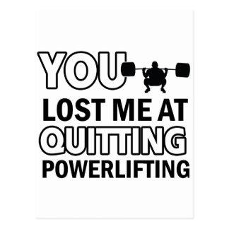 Powerlifting Entwürfe Postkarte