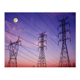 Powerlinie Dreiergruppe Postkarte