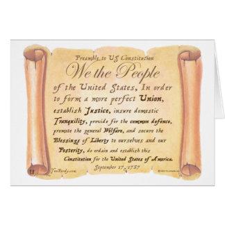 Präambel zu Konstitution H Karte