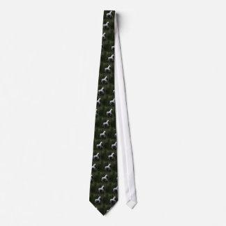Prächtiges weißes Einhorn Krawatte