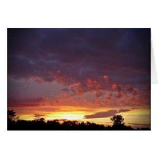 Prachtvolle Himmel Grußkarte