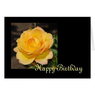 Prachtvolle Rosen-Geburtstags-Karte Karte