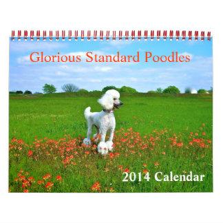 Prachtvolle Standardpudel Abreißkalender