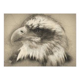 Prachtvoller Weißkopfseeadler Setch 14 X 19,5 Cm Einladungskarte