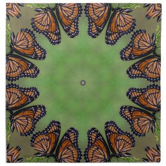 Prachtvolles Monarchfalter-Kaleidoskop Serviette