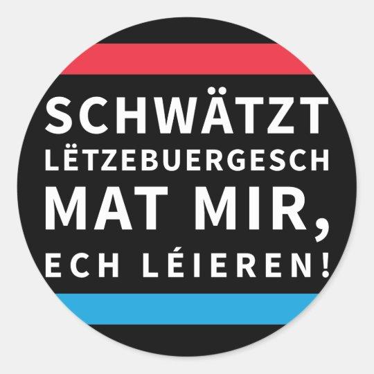 Practise Luxembourgish Black Sticker