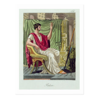"Praetor, Nr. 38 von ""antikem Rom"", graviert durch Postkarte"