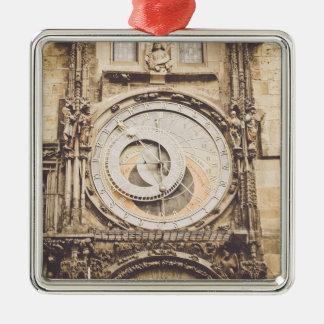 Prag, astronomische Uhr der Tschechischen Republik Silbernes Ornament