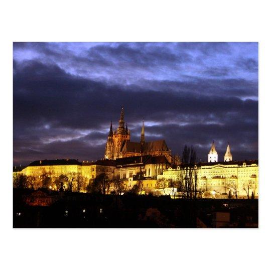 Prag bei Nacht Postkarte