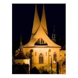 Prag bis zum Nacht Postkarte