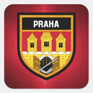 Prag-Flagge Quadratischer Aufkleber