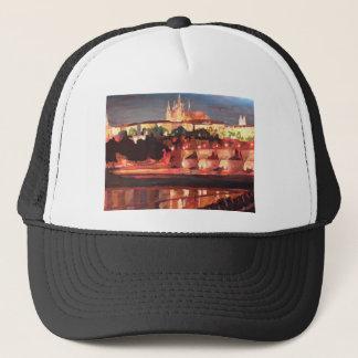 Prag - Hradschin mit Charles-Brücke Truckerkappe