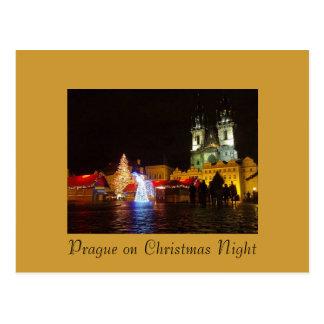 Prag-Nachts-Postkarte Postkarte