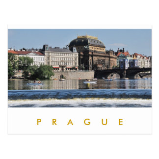 Prag - Nationaltheater Postkarte