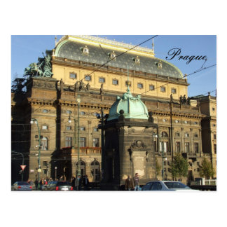 Prag-Postkarte das nationale Theater Postkarte