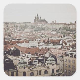 Prag-Schloss in der Stadt Tschechischer Republik Quadratischer Aufkleber