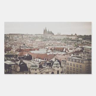 Prag-Schloss in der Stadt Tschechischer Republik Rechteckiger Aufkleber