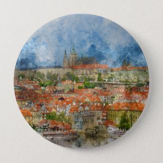 Prag-Schloss in der Tschechischen Republik Runder Button 10,2 Cm