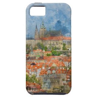 Prag-Schloss mit berühmter Charles-Brücke auf Hülle Fürs iPhone 5