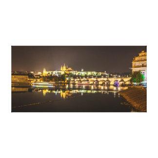 Prag - Schloss u. Charles-Brücke Leinwanddruck
