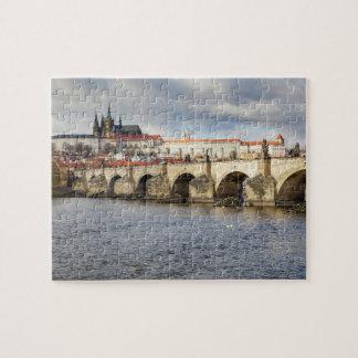 Prag-Schloss und Charles-Brückenandenken-Foto Puzzle