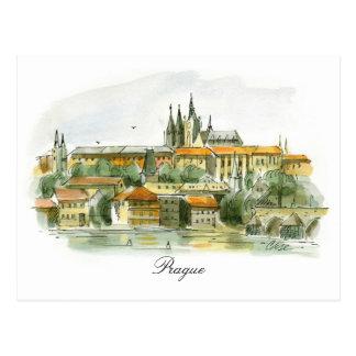 Prag-Schlosspostkarte Postkarte