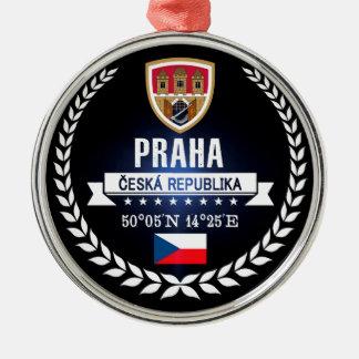 Prag Silbernes Ornament