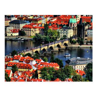 Prag-Stadtbild, Tschechische Republik Postkarte