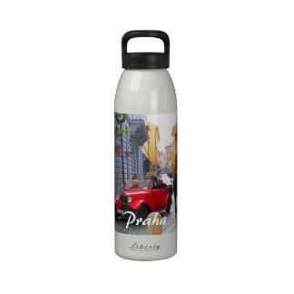 Prag-Straßen-Szene Wiederverwendbare Wasserflasche