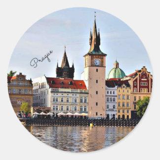 Prag, Tschechische Republik Runder Aufkleber