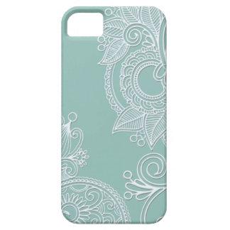 Prägeartiges Boho aquamarines Paisley iPhone 5 Hülle