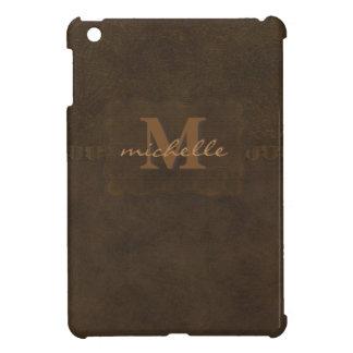 Prägeartiges Leder-Monogramm Paisleys iPad Mini Hülle