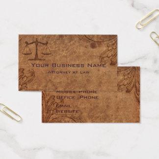 Prägeartiges Leder-Rechtsanwalt am Gesetz Visitenkarte
