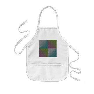 Prägeartiges lila Mehrfarbengrün des quadratischen Kinderschürze