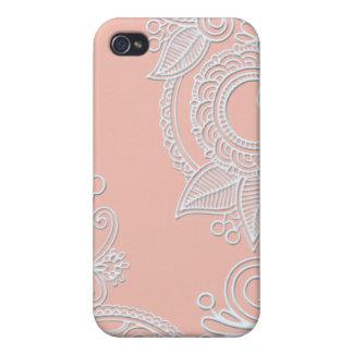 Prägeartiges Paisley - Rosa Etui Fürs iPhone 4